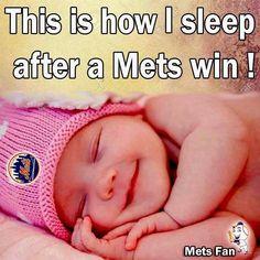 How I sleep after a Mets win!