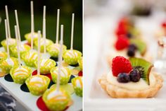 So yummy looking! - lemon tarts and cake pops!