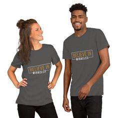 Believe in Miracles Unisex T-Shirt - Asphalt / S