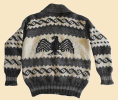 Authentic Custom Created Cowichan Sweaters and and Full Length Coats Cowichan Sweater, Men Sweater, Coats, Wool, Money, Black And White, Knitting, Sweaters, How To Wear