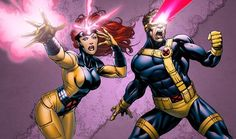 X-Men Jean and Scott colors by *RobertAtkins on deviantART