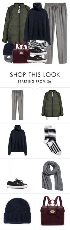 """""""Untitled #969"""" by paradise-101 ❤ liked on Polyvore featuring H&M, Topshop, HOT SOX, Superga, Acne Studios and Mulberry"""