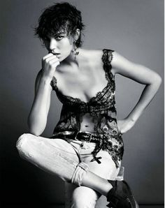 Vogue Paris Editorial March 2012 - Arizona Muse by Inez van Lamsweerde and Vinoodh Matadin