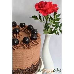 Tort Seherezada – un desert oriental - simonacallas Coffee Time, Tea Time, Chocolate Cherry Cake, Chocolate Lovers, Cheesecake, Fruit, Cherries, Desserts, Heaven
