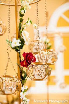 Lanterns hanging near entrance of Diwali party