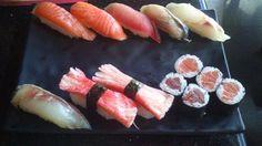 De bestelde sushi! Het smaakte erg lekker en zag er goed uit.