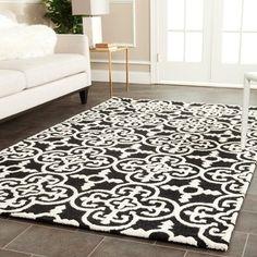 Safavieh Handmade Cambridge Moroccan Geometric Black Wool Rug (5' x 8') | Overstock™ Shopping - Great Deals on Safavieh 5x8 - 6x9 Rugs