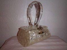 Purse-Retro-Rare-Gold-Tone-Georgeous-Handbag-Miami-Florida-Eve-Bag-40s-50s-Era