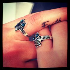 Big sis little sis rings....have these with my sister. love them.