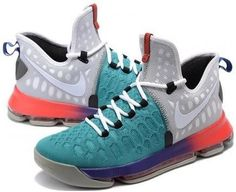 watch 0d6f8 26c5f Nike Zoom Mens Basketball Shoes - Teal White, cheap KD If you want to look Nike  Zoom Mens Basketball Shoes - Teal White, you can view the KD 9 categories,  ...