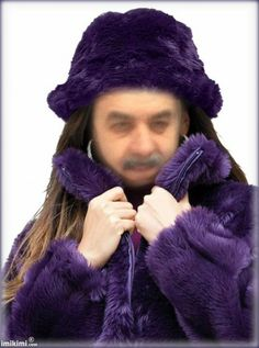 Beautiful Girl In Purple Fur