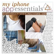 my iphone app essentials ; addy by illicit-tips on Polyvore featuring polyvore, interior, interiors, interior design, home, home decor, interior decorating, Piet Hein Eek and AVLtips