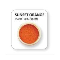 XPC305 - Sunset Orange Powder colours 2g Home Baking, Food Coloring, Powder, Rainbow, Colours, Sunset, Orange, Halloween, Rain Bow