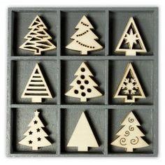 Abbellimenti in legno Cart-Us - Alberi di Natale