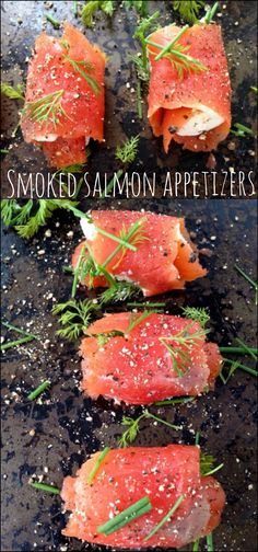 Quick and Easy, 5 Ingredient Smoked Salmon Appetizers with Mascarpone Cheese (Italian cream cheese) and fresh Herbs to Knock Your Socks Off! Seafood Appetizers, Appetizer Dips, Seafood Recipes, Appetizer Recipes, Cooking Recipes, Cheese Appetizers, Seafood Party, Cheese Recipes, Copycat Recipes