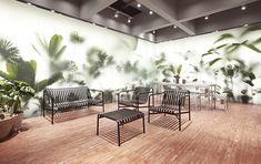 STOREHAY China 2017 Design store concept for Danish design brand HAY in China starting with three stores in Chengdu, Suzhou and. 2017 Design, Club Design, Modern Interior, Interior Architecture, Interior Design, Hay Store, Herringbone Wooden Floors, Wall Design, House Design