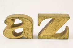 RARE Vintage Pop Art Curtis Jere A to Z Bookends 1970 Good Shape Free Priority   eBay