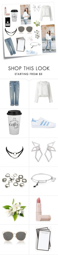 """My style 🌸"" by layan-sami ❤ liked on Polyvore featuring Post-It, J Brand, IRO, adidas, W. Britt, Alex and Ani, Lipstick Queen, Christian Dior, Ben's Garden and Givenchy"