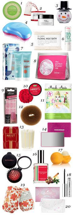 My favourite beauty stocking stuffers and Secret Santa ideas for holiday 2013 (all $20 or less!) http://beautyeditor.ca/2013/12/08/beauty-stocking-stuffers-2013/
