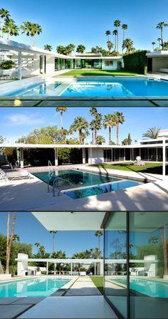 Pool - revamped mid century modern  -  Houzz.com