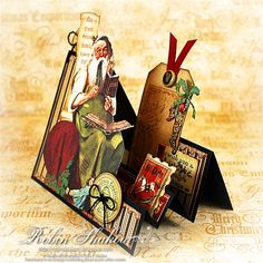 Step card with video Designs by Robin: Graphic 45 Christmas Emporium paper