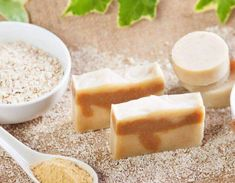 The regular use of this natural oatmeal soap can help to eliminate dead cells that accumulate on the skin. Even though there are many exfoliating. Cleanser For Oily Skin, Skin Toner, Oatmeal Soap, Chamomile Oil, Natural Exfoliant, Lavender Soap, Homemade Facials, Sweet Almond Oil, Baking Soda