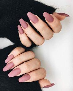 Matte nails.