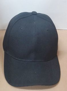 9a0ad1980af Black Classic Baseball Visor 6 Panel Golf Sports w  Peak Ball Cap Hat Caps  Hats
