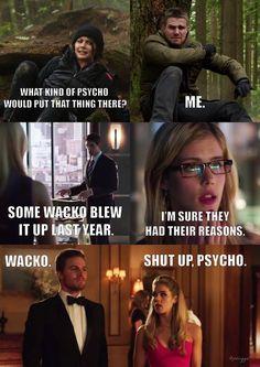 Mental health is unnecessary on The Arrow. Psychische Gesundheit ist bei The Arrow unnötig. Arrow Funny, Arrow Memes, Superhero Shows, Superhero Memes, Team Arrow, Arrow Tv, Movies And Series, Cw Series, Supergirl Dc