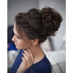 #40: Braided Chignon Hairdos for long hair rarely come more elegant than the low chignon pictured here. This look truly works wonders on long, thick hair, addi…