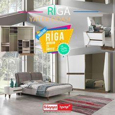 Riga Modern Yatak Odası Takımı ile mutlu bir sabaha uyanın! Ek olarak takıma Riga TV ünitesi eklenir ise buda size +%20 indirim ile gelecektir. 👍 #EnGüzelAnlara #SönmezHome2017 #Yeni #EnGüzelAşklara #Sönmez #Home #YeniSezon #Modern #HomeDesign #Design #Decoration #Ev #Evlilik #Wedding #Çeyiz #Konfor #Rahat #Dolap #Estetik #Renk #Salon #Mobilya #Stil #Tasarım #Furniture #Tarz #Dekorasyon #Gardrop #Yatak #Odası
