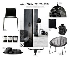 """""""Shades Of Black"""" by nmkratz ❤ liked on Polyvore featuring interior, interiors, interior design, home, home decor, interior decorating, Lightyears, Hübsch, Caleb Siemon and Foscarini"""