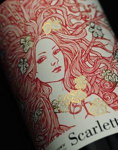 Scarlett on Packaging of the World - Creative Package Design Gallery Beer Packaging, Food Packaging Design, Packaging Design Inspiration, Graphic Design Inspiration, Wine Label Design, Bottle Design, Wine Brands, Wine And Liquor, Graphic Design Branding