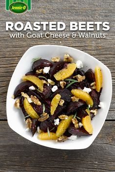 Roasted Beets with Goat Cheese & Walnuts. An impressive dish that requires little prep, this side may soon become a yearly holiday staple.