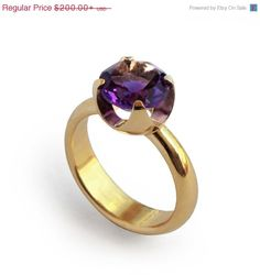 CUP Ruby Engagement Ring Rose Gold Ruby Ring Ruby by AroshaTaglia