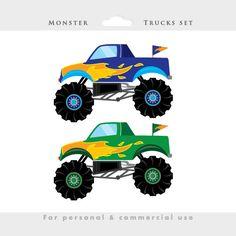 Monster trucks clipart trucks clip art by WinchesterLambourne