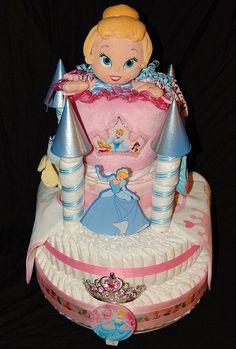 Cinderella's Castle Diaper Cake
