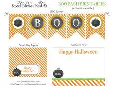 5 Imprimibles gratuitos y colección de recursos para decorar el blog de Halloween