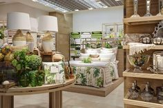 New Zara Home store Milan, interior visual merchandising, bed and table display.