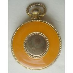 1975 Estee Lauder GOLDEN TIMES solid perfume Compact