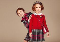 Dolce & Gabbana Collezione Bambino Autunno Inverno 2016 2017: Bambina   Dolce & Gabbana