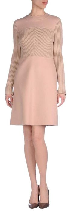 Valentino Long-sleeve Jewel-neck Sweater Dress. Free shipping and guaranteed authenticity on Valentino Long-sleeve Jewel-neck Sweater DressValentino dress: ribbed panel at front, round neck...