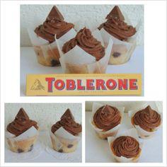 Toblerone cupcakes + choco ganache