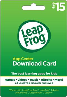 LeapFrog - 15$ App Center Download Card, LEAPFROG DOWNLOAD APP CARD $15
