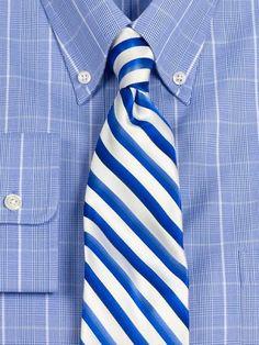 Striped Woven Silk Tie from Paul Fredrick
