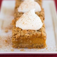 Pumpkin Pie Crumb Bars - these are amazingly good!