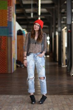 Cozy-cool style around the office. http://blog.freepeople.com/2013/01/office-style-cozy-cool/