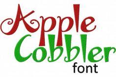 Free Apple Cobbler Machine Embroidery Font Set