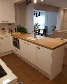 A imagem pode conter: área interna tasteofhome Kitchen Room Design, Modern Kitchen Design, Home Decor Kitchen, Kitchen Interior, Home Kitchens, Easy Home Decor, Home Decor Trends, Home Decor Inspiration, New Interior Design