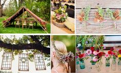 nature decoration of camping wedding
